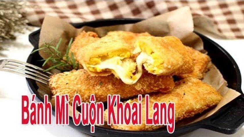 hướng dẫn làm khoai lang chiên - Cách Làm Món Bánh Mì Cuộn Khoai Lang Chiên Xù Vừa Ngon Vừa Dễ Làm | Góc Bếp Nhỏ