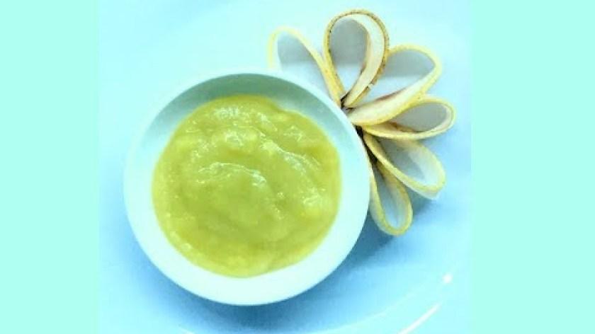 cách nấu khoai lang cho bé ăn dặm - Hỗn hợp lê khoai lang - món ăn dặm ngọt thanh béo nhẹ dành cho bé