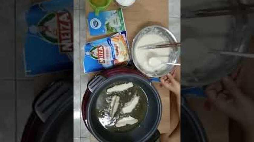 hướng dẫn làm bánh khoai lang - Hướng dẫn bé susu làm bánh khoai lang chiên bột mì