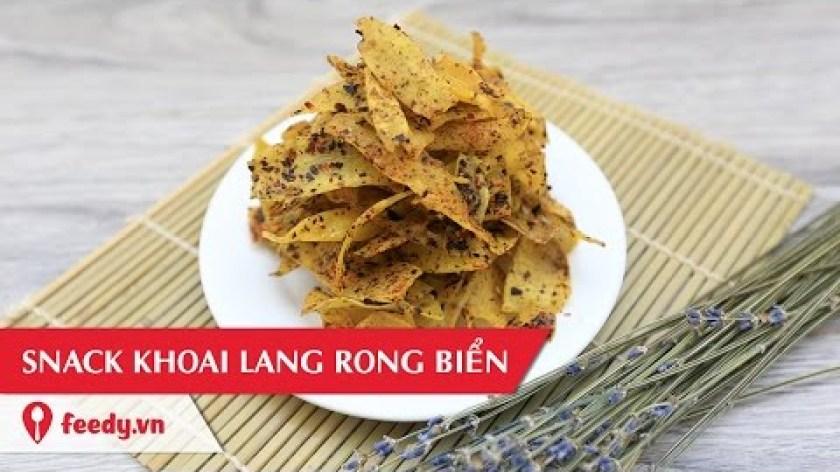 cách nấu khoai lang - Hướng dẫn cách làm snack khoai lang rong biển - Sweet Potato Snacks