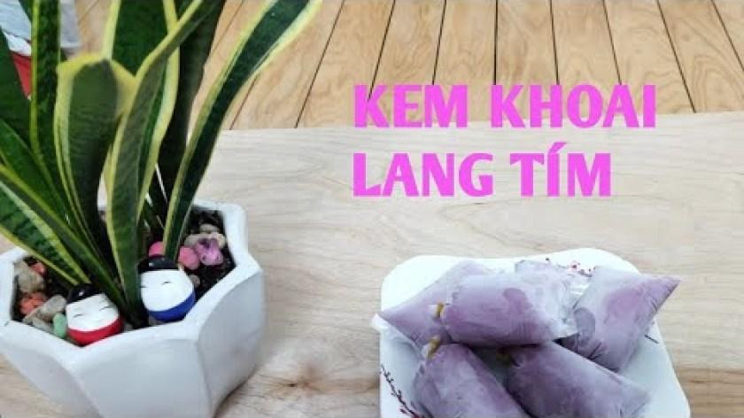 cách nấu khoai lang - Kem Khoai Lang Tím: cách làm Kem khoai lang tím dẻo mịn không dăm, không cần wipping cream