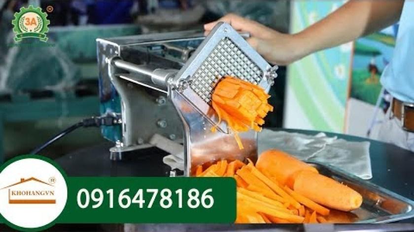 hướng dẫn làm khoai lang lắc - Máy cắt khoai lang lắc|Máy máy cắt sợi rau củ(cà rốt, khoai tây, củ cải) 3A tự động 370W, BTĐ 60W