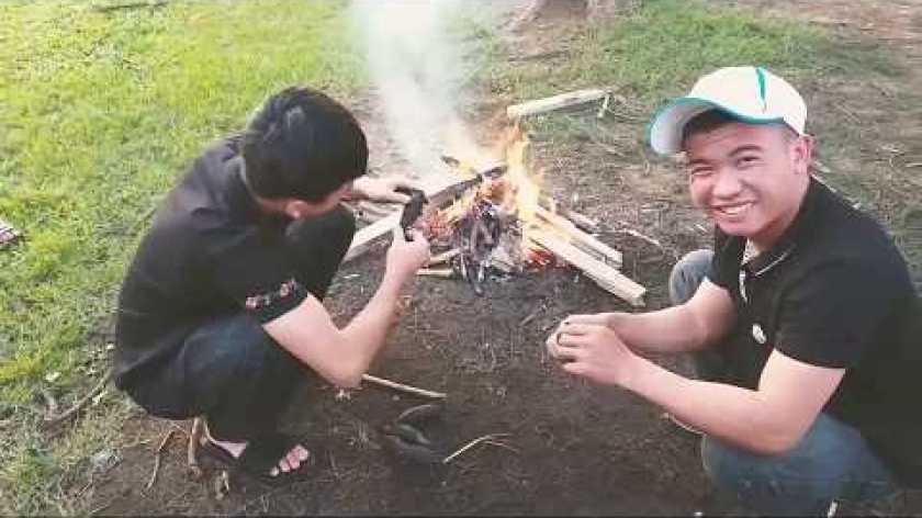 hướng dẫn nướng khoai lang bằng lò nướng - TĐ    cách nướng khoai lang bằng củi t.h.ơ.m ngon!