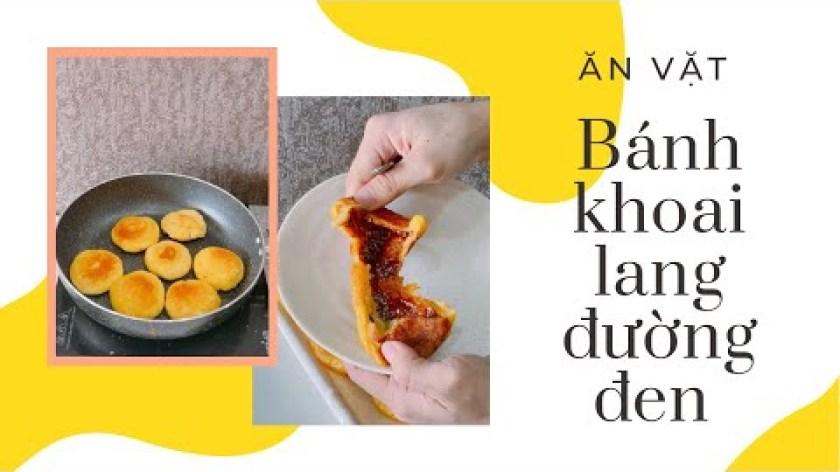 hướng dẫn làm bánh khoai lang - Bánh khoai lang đường đen
