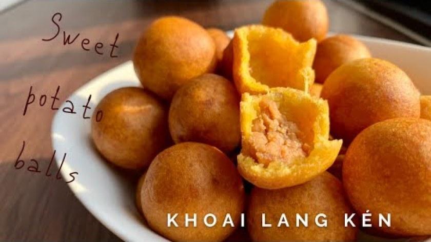 cách nấu khoai lang - Cách làm khoai lang kén nhân đậu phộng (Sweet Potato Balls)