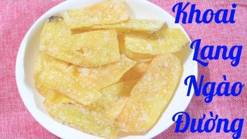 hướng dẫn làm mứt khoai lang - Cách làm khoai lang ngào đường giòn ngon ăn chơi tại nhà