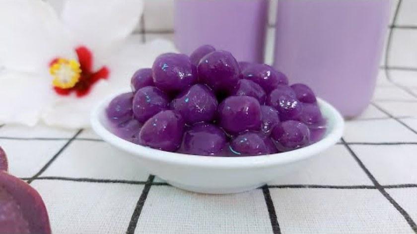 hướng dẫn luộc khoai lang ngon - Cách làm trân châu khoai lang tím uống cùng trà sữa vừa ngon vừa đẹp-Make purple sweet potato pearls