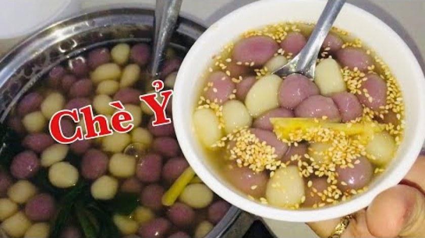 hướng dẫn làm bánh khoai lang - Cách nấu Chè Ỷ, Khoai Lang Tím Chè viên bột nếp ngọt ngon thơm dẻo