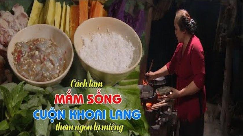 hướng dẫn luộc khoai lang - Món Mắm Sống Cuộn Khoai Lang   Cơm Nhà Má Nấu
