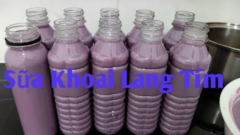 cách nấu khoai lang - Sữa Khoai Lang Tím : Thử nấu sữa khoai lang tím đơn giản nhất