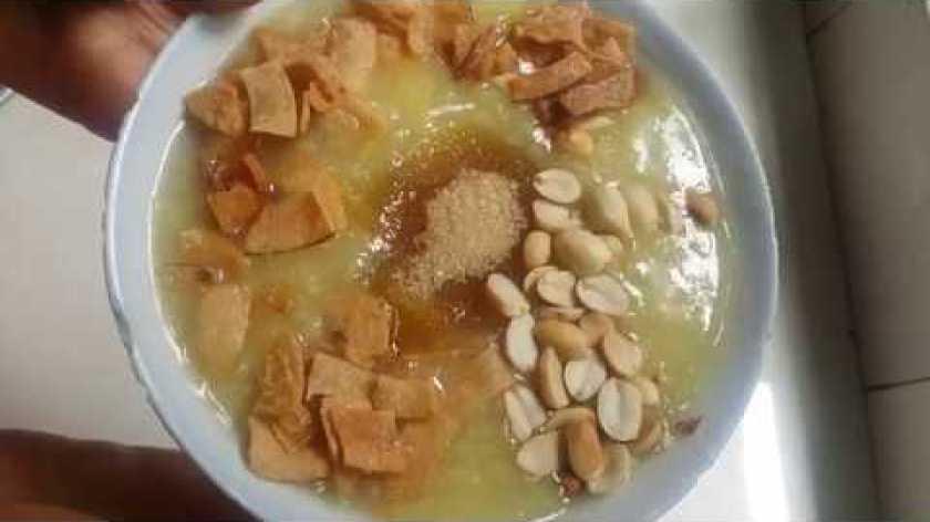 cách nấu khoai lang - cách nấu chè đậu xanh khoai lang ngọt mát.