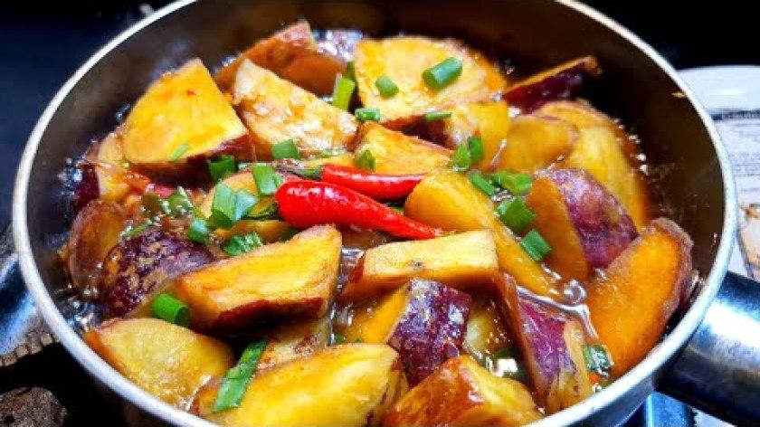 hướng dẫn luộc khoai lang ngon - KHOAI LANG nấu món chay này ai cũng thích - món ngon tại nhà