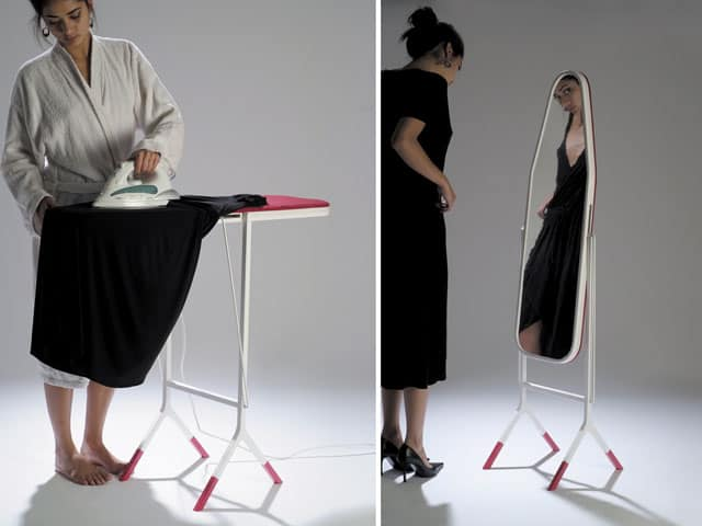 madame est servie, ironing board and mirror