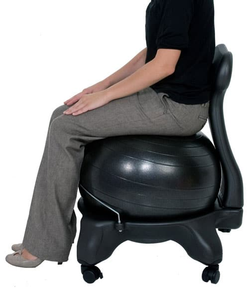 ball chair for office modern reading 16 best balance chairs sitting behind a desk vurni isokinetics exercise