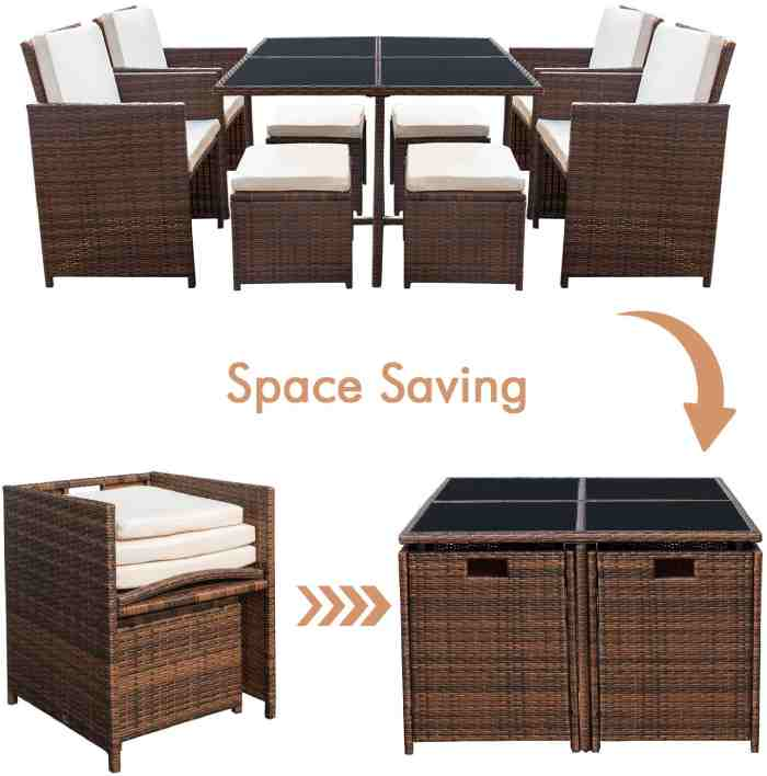 space saving garden furniture vurni