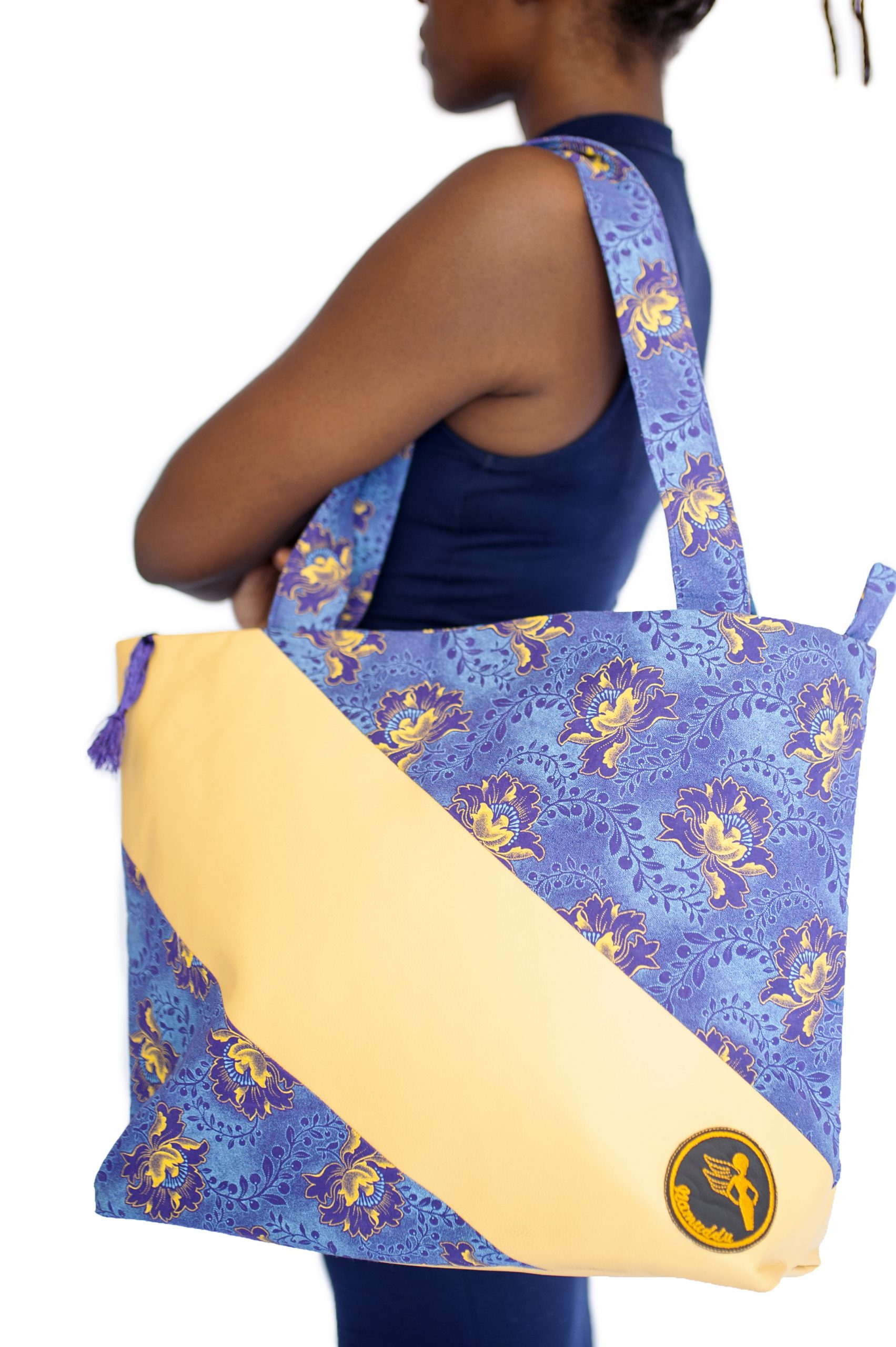 Namuddu Shweshwe Tote Bag – Yellow Blue