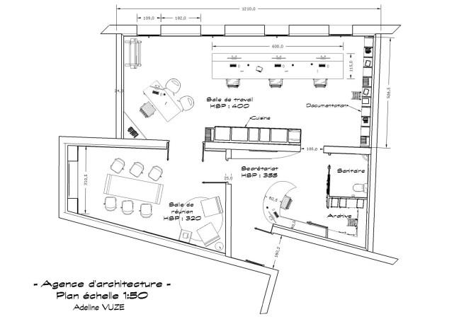 Plan du lieu de l'agence