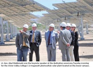 Dignitaries visit VVC's 1 MegaWatt Solar Power Plant