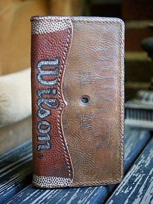 Tall Boy, Wilson Baseball Glove Leather Wallet -- Vvego.com