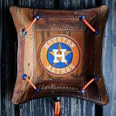 Houston Astros Valet Tray Made From Baseball Glove Leather -- Vvego.com