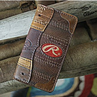 Tall Baseball Glove Leather Wallet