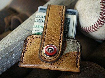Old Baseball Glove Wallet -- The Minimalist Vvapor