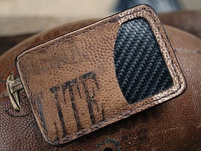 Front Pocket Wallet Made From Used Footballs-Vvault Series
