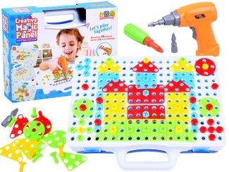 Kreativna igrača sestavljanka z vrtalnikom otroški kreativni ustvarjalni set