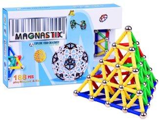 Magnetni konstruktor Magnastix 188 delov