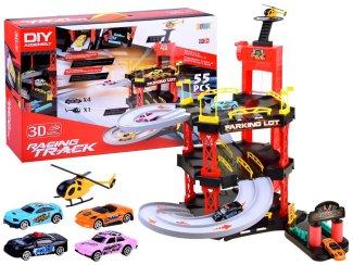 Igrača otroška garažna hiša - dirkalna steza Racing track