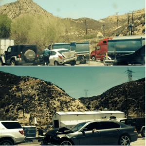 Second traffic collision on NB-15 at the scales reported at 12:24pm. (photo contributed by: Shea Shea via VVNG)