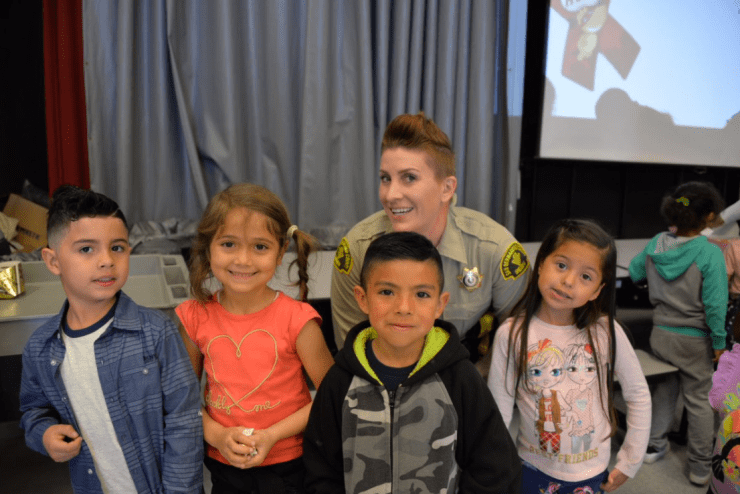 Donuts with a Deputy was a sweet success! Our TK & kinder classes enjoyed the morning with Deputy Katie Merrill of sbcountysheriff. (photo courtesy of Riverside Prep via Twitter)