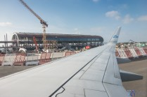 New terminal building being built at Oslo Gardermoen.