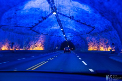 Architect was clever enugh to break up monotony of driving in a tunnel by creating such galleries every few kilometeres...
