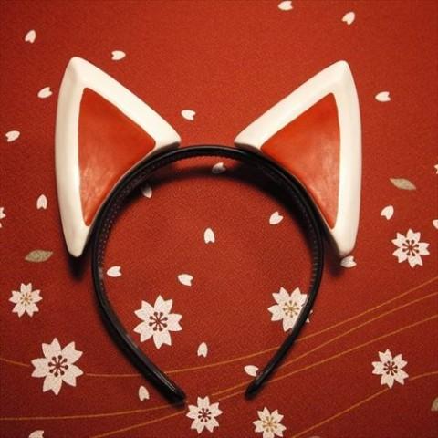 【絵本狐堂】狐耳(柄べっこう色)【9月下旬入庫予定】