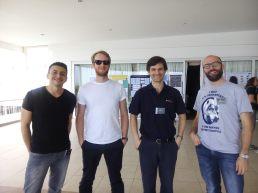from Britain: Oscar Gonzalez, Leigh Smith, Phil Lucas and Carlos Eduardo Ferreira