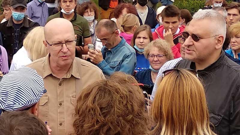 Валерий Соловей на Пушкинской площади