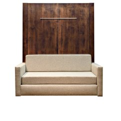 Wall Bed With Sofa Canada Leather Sleeper Full Size Murphy Over