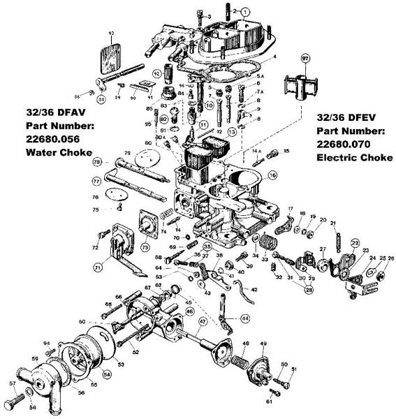 Volkswagen Weber Progressive Carburetor