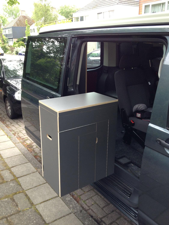 Campermeubel  Volkswagen Transporter T5  ombouw naar Camper