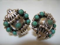 turquoise, silver, jewelry, earrings