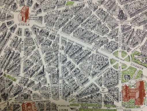 map, Paris