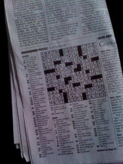 crossword puzzle, words