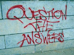 question, graffiti
