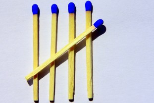 five, matches