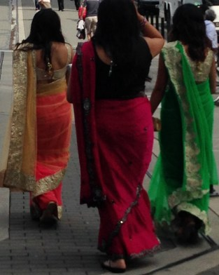 Indian women, saris