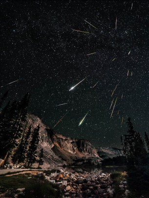 Perseids, meteor shower, night
