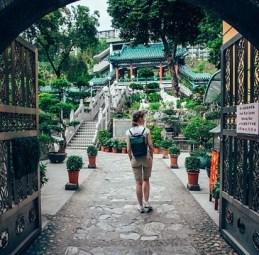 hong kong, woman traveler