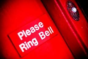 doorbell, red