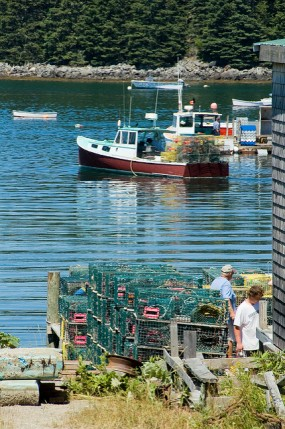 Maine, lobstermen, boat